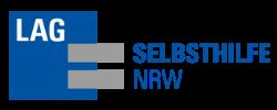 Das blau-graue Logo der Landesarbeitsgemeinschaft Selbsthilfe NRW