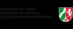 Das Logo des Ministeriums für Arbeit, Gesundheit und Soziales des Landes NRW