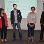 Miriam Düber, Marcus Windisch und Christine Dauberschmidt vom ZPE sowie Daniela Eschkotte von der LAG