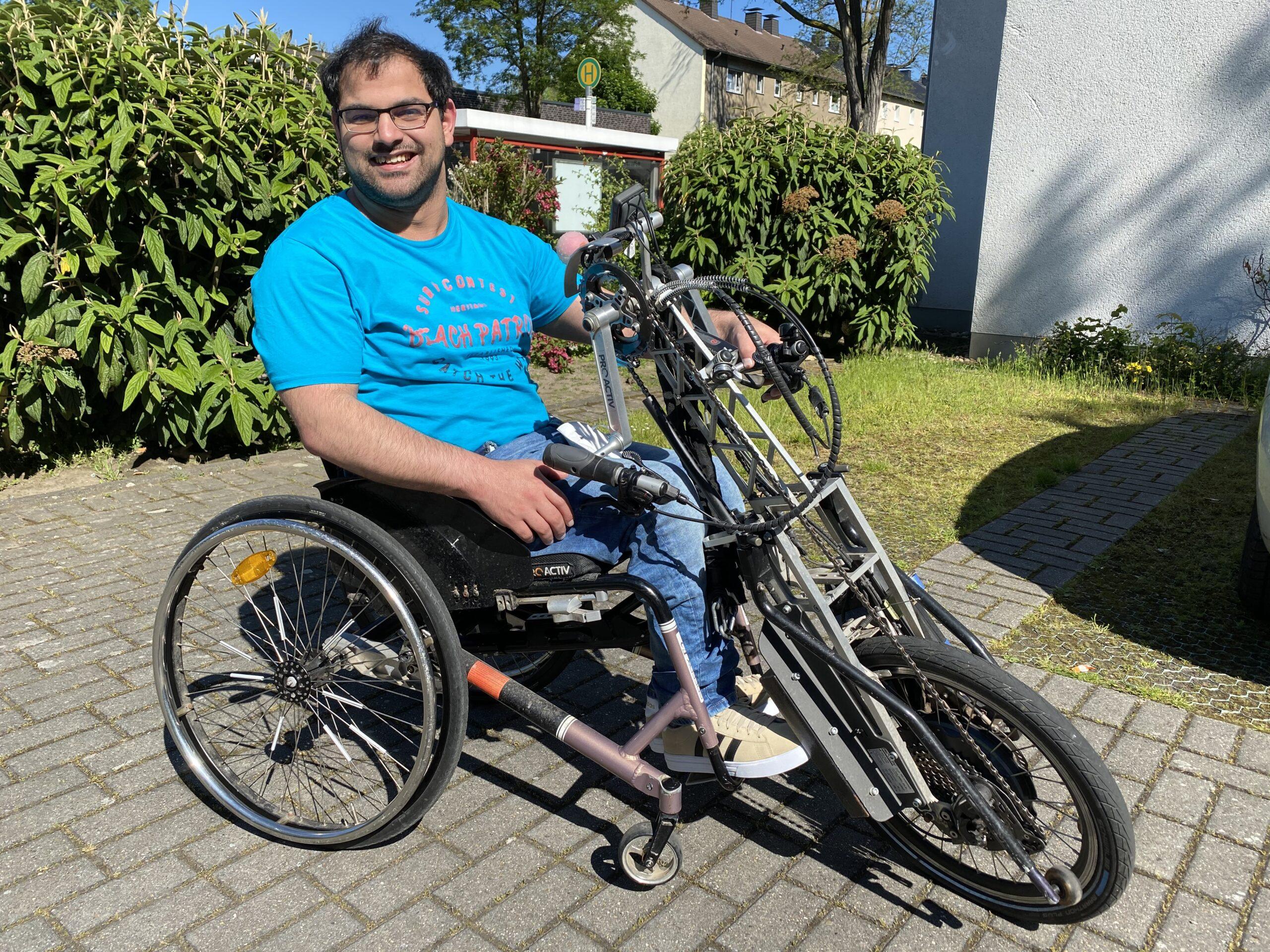 Foto von Hafid S. mit seinem Handbike