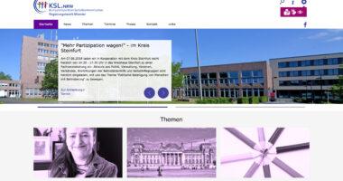 Screenshot der KSL Website