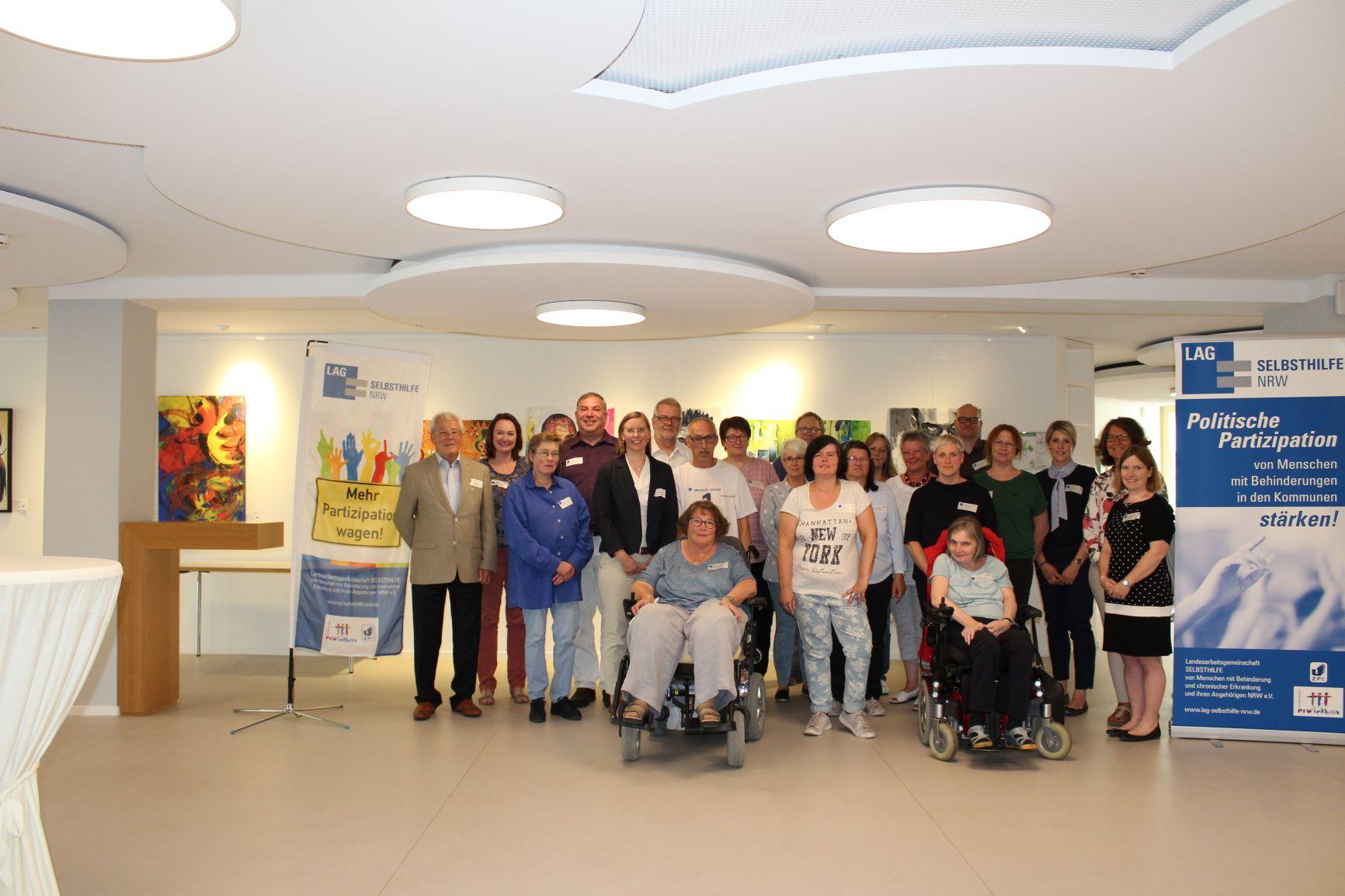 Die Teilnehmer*innen des Workshops im Kreis Lippe